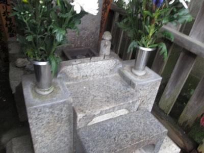 墓石をコーティング