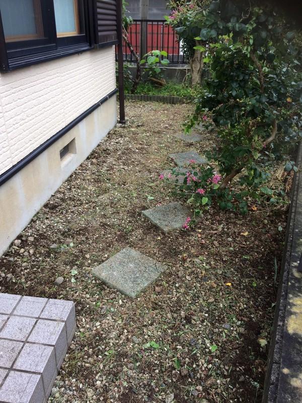東京都羽村市 お庭の草むしり H様