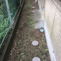 東京都青梅市 防草シート・防犯砂利施工・抜根処理 H様